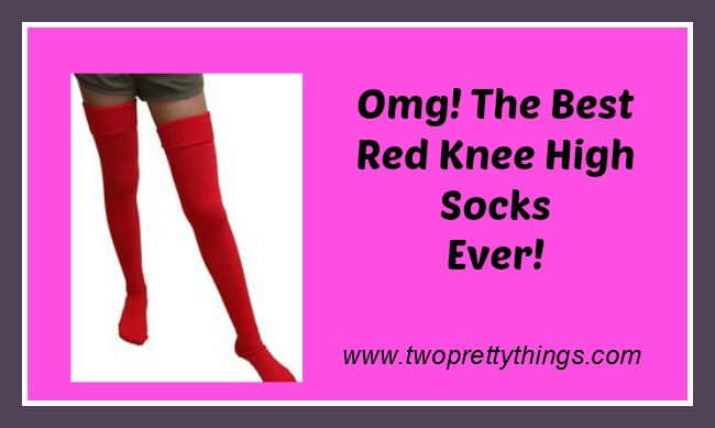Buy Red Knee High Socks