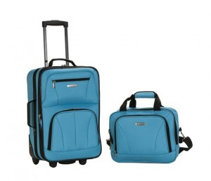 Blue Suitcase with Wheels Set