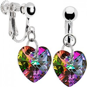 Clip On Earrings - Heart Shaped Earrings
