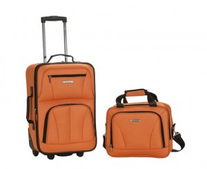 Rockland Suitcase with Wheels - Orange