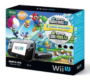 Wii U with Super Mario Games