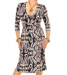 Wrap Dresses - Printed Wrap Dress