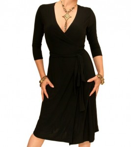 Wrap Dresses for Women - Black Wrap Dress